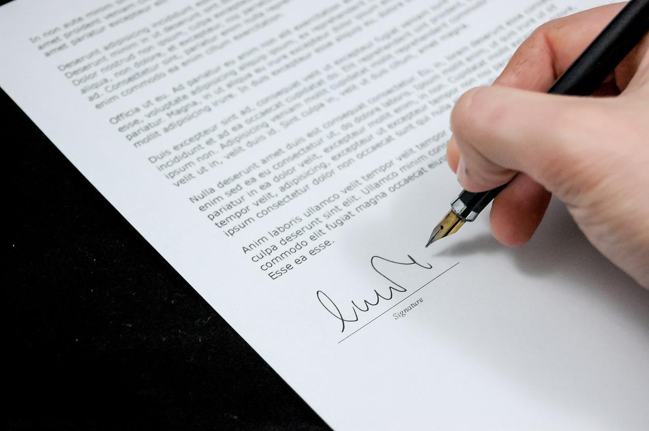 書類 サイン 署名