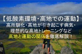 低酸素環境・高地での運動